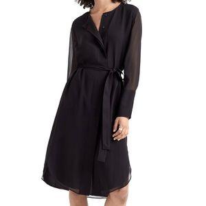 Club Monaco Black Shirttail Belted Dress